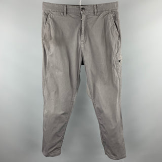 STONE ISLAND Shadow Project Size 33 Gray Cotton Drop-Crotch Casual Pants