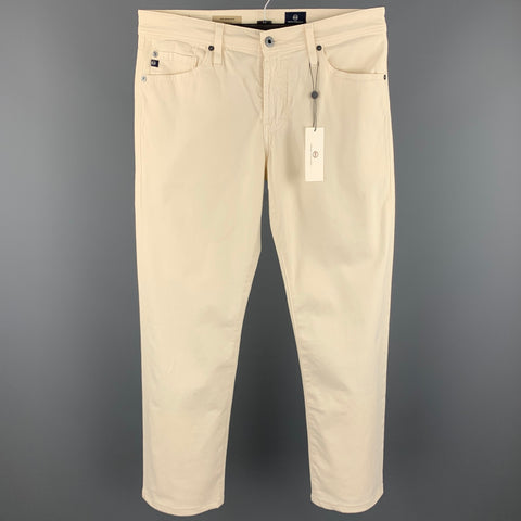 ADRIANO GOLDSCHMIED Size 30 Beige Cotton Zip Fly Jeans