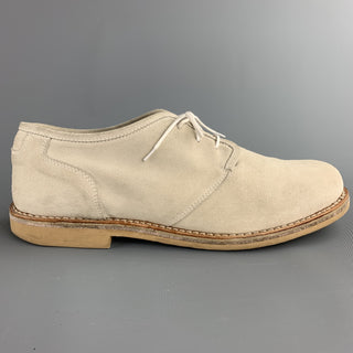 ADAM KIMMEL Size 12 Ivory Suede Lace Up Shoes