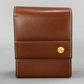 GOLDPFEIL Tan Brown Leather Magnetic Flap Case