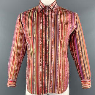 PS by PAUL SMITH Size L Multi-Color Stripe Cotton French Cuff Long Sleeve Shirt