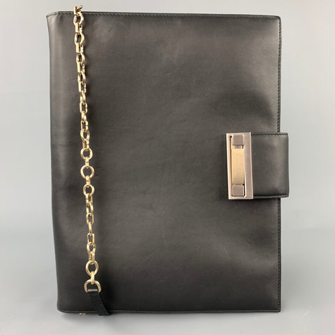 BALLY A/W 11 Black Leather Shoulder Strap iPad Briefcase