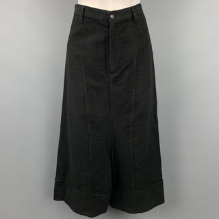 COMME des GARCONS TRICOT Size M Black Cotton Drop-Crotch Casual Pants
