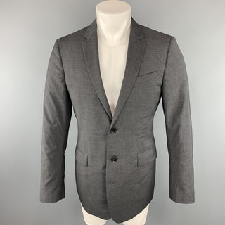 BURBERRY LONDON Size 40 Dark Gray Solid Regular Wool Sport Coat