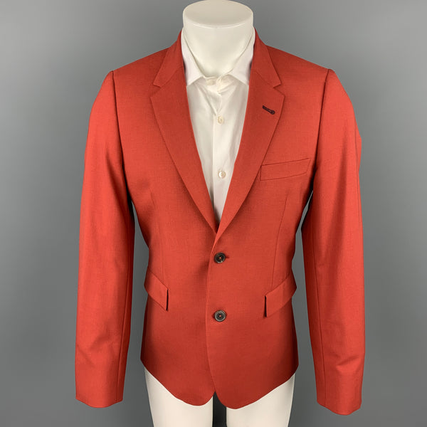PAUL SMITH Size 38 Brick Wool Notch Lapel Sport Coat