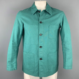 VETRA Size XL Teal Cotton Patch Pocket Worker Jacket