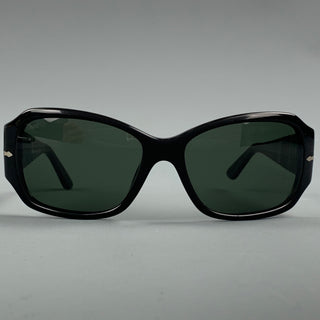 PERSOL Black Acetate Silver Trim Sunglasses