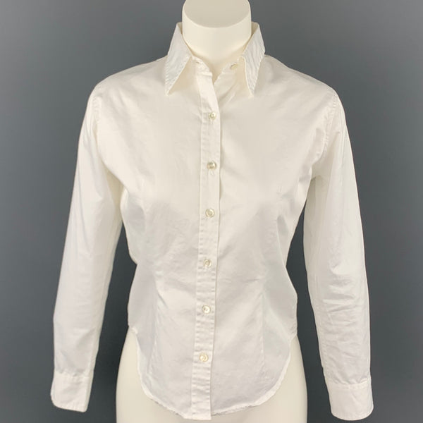 PAUL HARNDEN Size S White Cotton Button Up Shirt