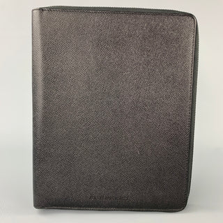 BURBERRY Black Pebble Grain Leather iPad Case