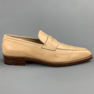 GRAVATI for WILKES BASHFORD Size 8.5 Natural Leather Penny Loafers
