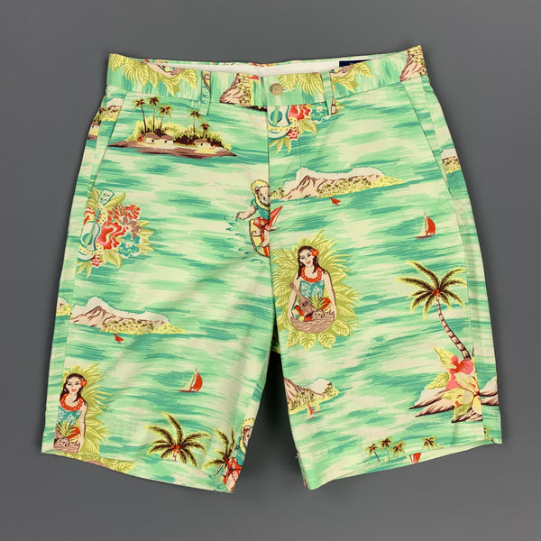 POLO by RALPH LAUREN Size 29 Multi-Color Hawaiian Cotton Zip Fly Shorts
