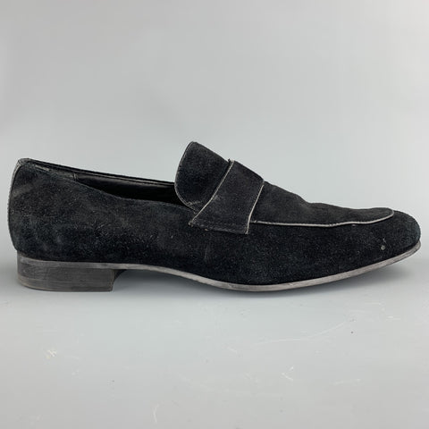 CALVIN KLEIN Size 10 Black Slip On Loafers