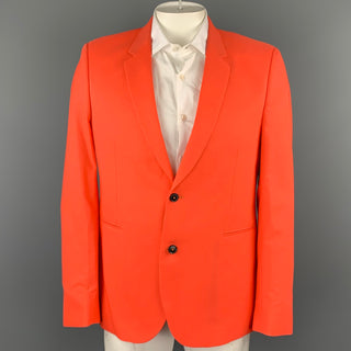 PAUL SMITH Size 42 Orange Wool Notch Lapel Sport Coat