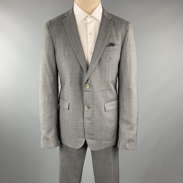 SAND Size 44 Gray Acetate / Viscose Notch Lapel 36 x 32 Suit