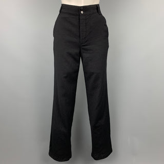RAG & BONE Size 4 Black Wool Straight Leg Dress Pants