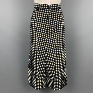 COMME des GARCONS TRICOT Size S Black & White Cotton Casual Pants