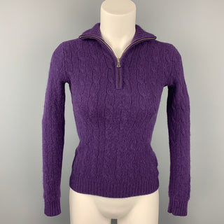 RALPH LAUREN Black Label Size XS Purple Cashmere Sweater