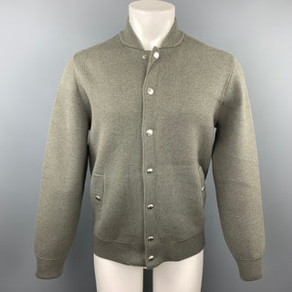 BRUNELLO CUCINELLI  Size 38 Moss Green Wool Blend Jacket