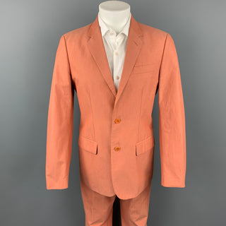 Vintage HELMUT LANG Size 38 Coral Cotton Notch Lapel Suit