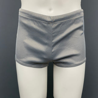 Vintage V2 by VERSACE Size S Light Gray Drawstring Swim Trunks