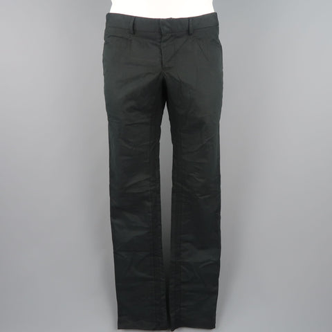 NICE COLLECTIVE Size 32 Black Solid Cotton Chino Pants