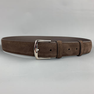 LORO PIANA Size 40 Brown Suede Belt