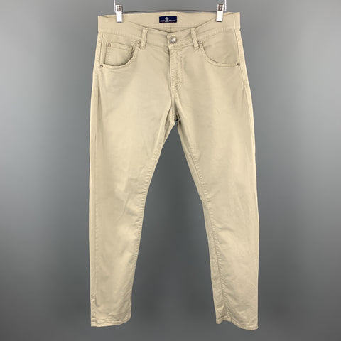 EREDI PISANO Size 34 x 33 Taupe Cotton Casual Pants