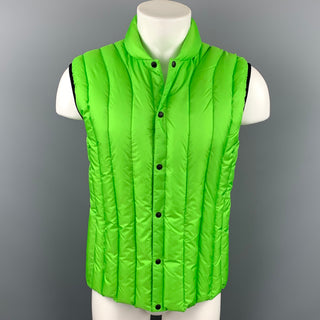 VICTORINOX Size L Green Quilted Polyester Vest