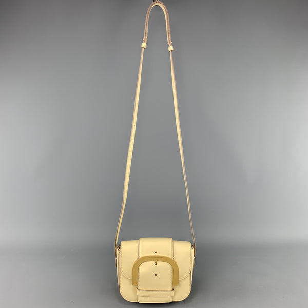 STELLA McCARTNEY Pastel Yellow Faux Leather Oversized Buckle CIEL Bag
