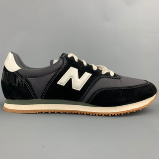 JUNYA WATANABE x NEW BALANCE Size 9 Black Mixed Materials Nylon Lace Up Sneakers