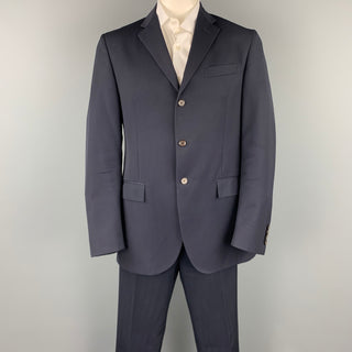 POLO by RALPH LAUREN Size 42 Long Navy Wool Notch Lapel Suit