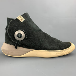 VISVIM Gila Size 9.5 Black Suede High Top Moccasin Sneakers