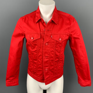 LEVI'S Size S Red Cotton Trucker Jacket
