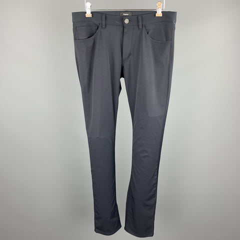 THEORY Size 30 Navy Polyamide Zip Fly Casual Pants