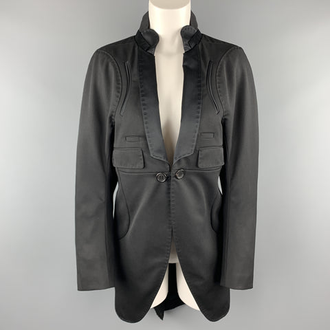 UNDERCOVER Size M Black Wool Satin Shawl Collar Tuxedo Coat