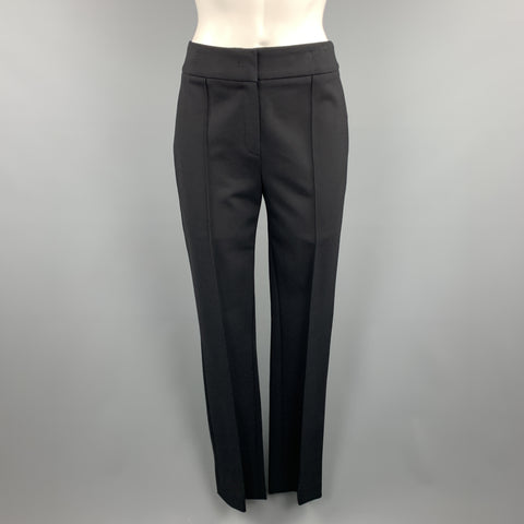 ESCADA Size 4 Black Slim Fit Flat Front Seam Dress Pants