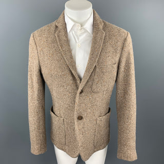 MARTIN MARGIELA Size L Oatmeal Heather Wool Notch Lapel Sport Coat