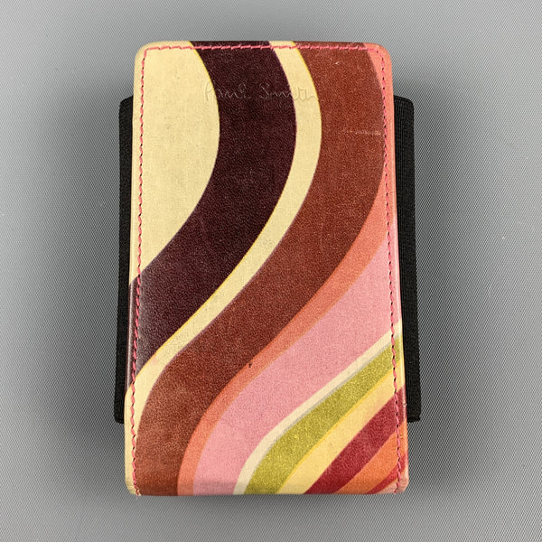 PAUL SMITH Multi-Color Leather Phone Case