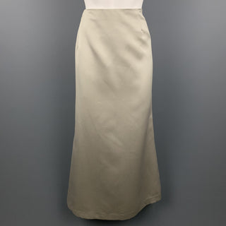 VERA WANG Size 12 Champagne Satin Polyester A-Line Skirt