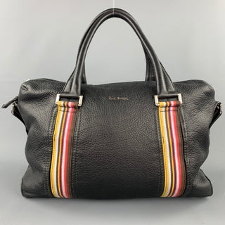 PAUL SMITH Black Pebble Grain Leather Laptop Bag