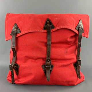 RRL by RALPH LAUREN Red Canvas Leather Trim Backpack
