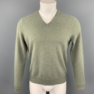 POLO by RALPH LAUREN Size S Olive Heather Cashmere V-Neck Sweater