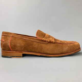 PS by PAUL SMITH Size 12 Tan Suede Contrast Stitch Slip On Teddy Loafers