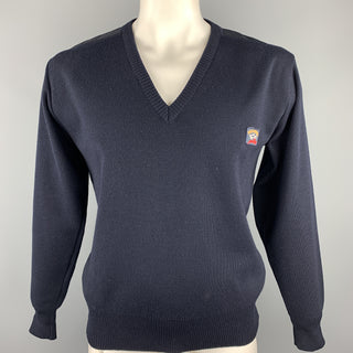 PAUL & SHARK Size L Navy Wool / Acrylic V-Neck Pullover