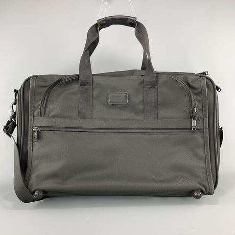 TUMI Solid Black Nylon Canvas Travel Bag