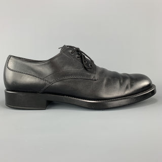 TOD'S Size 11 Black Leather Lace Up Derby Rubber Sole Dress Shoes