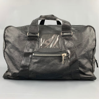 DRIES VAN NOTEN Black Coated Canvas Rectangle Duffle Bag