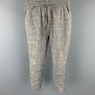 THE AUTHORITY Size S Grey Heather Cotton Cropped Casual Pants