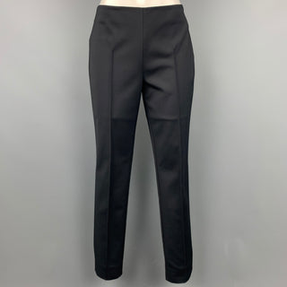 AKRIS Size 6 Black Narrow Leg Dress Pants