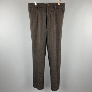 D&G by DOLCE & GABBANA Size 34 Brown Textured Lana Wool Casual Pants
